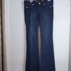 Seven -Dark Blue flare jeans with bling accents